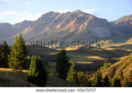 Mountains outside of Sun Valley, Idaho