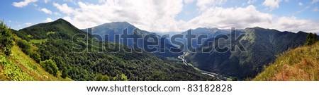 Mountains panorama #83182828