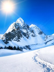 Mountains peak.