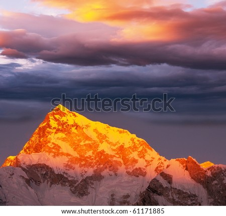 Mountains peak