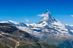 Mountains peak. Matterhorn. Swiss Alps