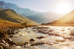 mountains river
