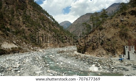 mountains river