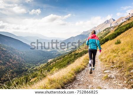 mountains, runner, sport, gir, woman, landscape, travel run, mountainrunning, outdoor