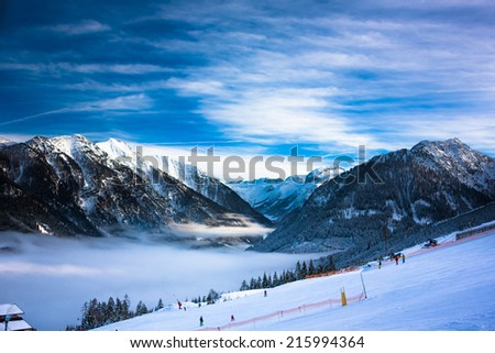 Mountains ski resort in Austria - nature and sport picture  #215994364