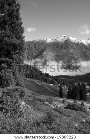 tien shan mountains. tien shan mountains. stock