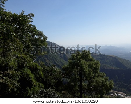 Mountains, trees and sky, a great mixture in single pic.