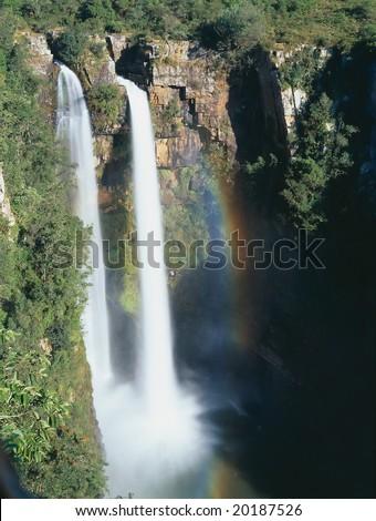 Mountains waterfall in South Africa