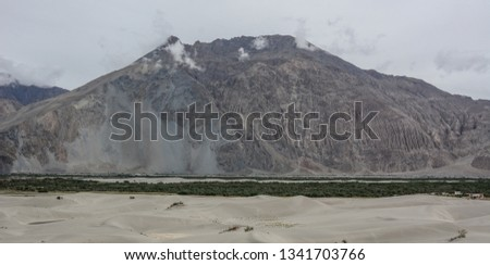 Mountainscape of Ladakh, North of India. Ladakh is renowned for its remote mountain beauty and culture. #1341703766