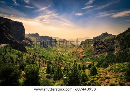 Mountainside landscape on Gran Canaria island, Spain