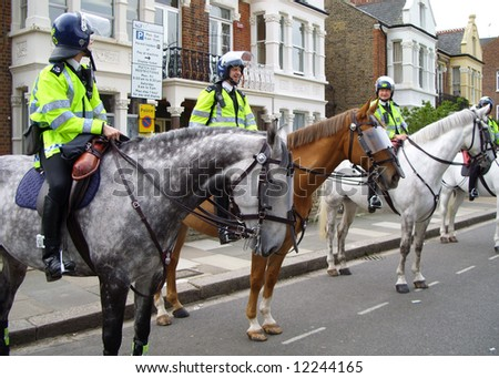 Mounted London police.
