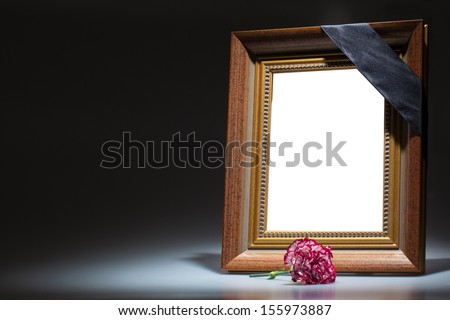 Mourning frame