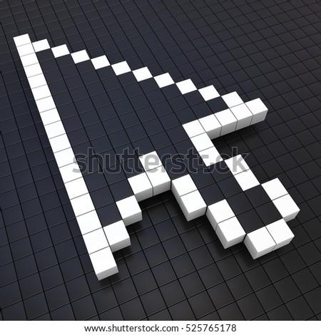 Mouse Arrow Cursor, 3D illustration #525765178
