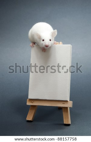 Mouse artist - stock photo