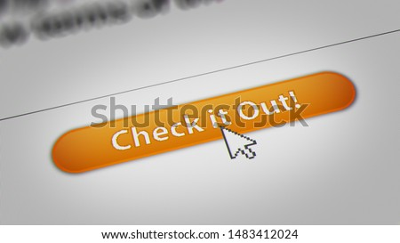 "Mouse Cursor Clicking ""Check it out "" Button on Screen Monitor #1483412024"