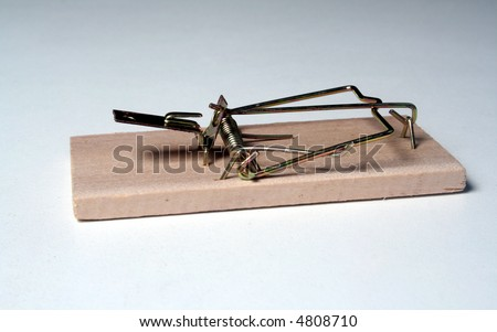 mouse trap - stock photo