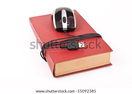 Mouse with book - stock photo