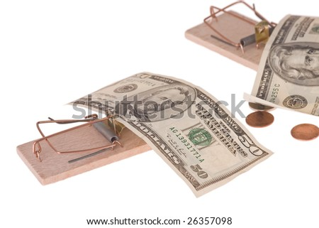 mousetrap with american money