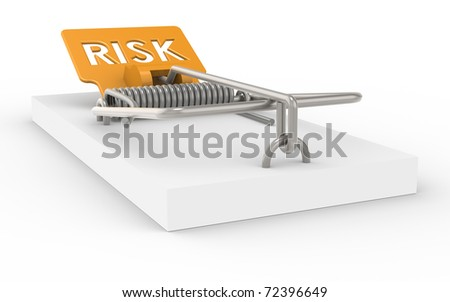 Mousetrap with Risk sign as Bait