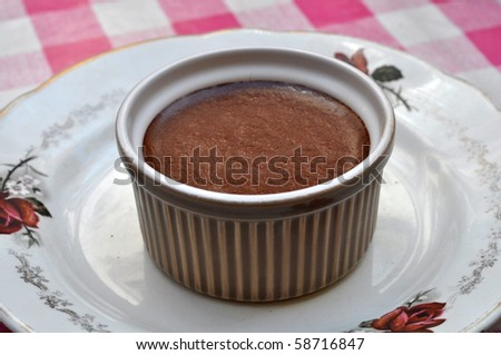Mousse au Chocolat in a retro cup