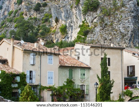 Moustiers-Sainte-Marie, a village near Gorges du Verdon, France