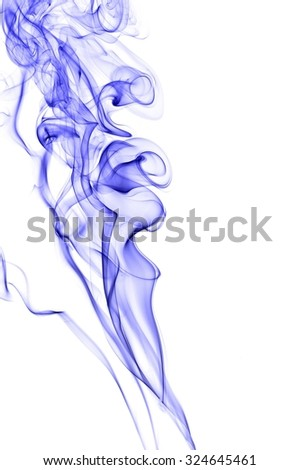 movement of blue smoke, Abstract blue smoke on white background, blue background,blue ink background,beautiful color smoke #324645461