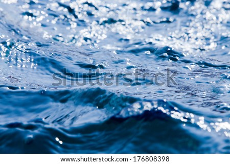 Movement of blue water #176808398