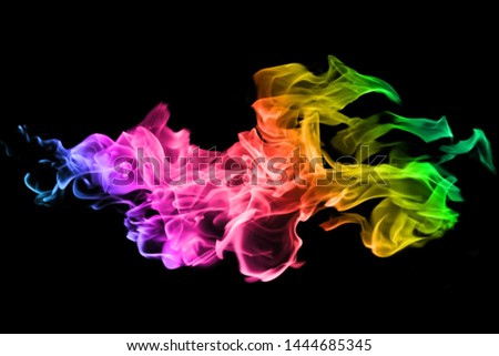 Abstract Red And Blue Smoke On Black Background Smoke