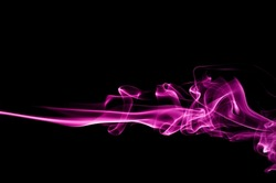 movement of purple smoke,Abstract violet smoke on black background, purple smoke background,purple ink background,Violet smoke, beautiful color smoke