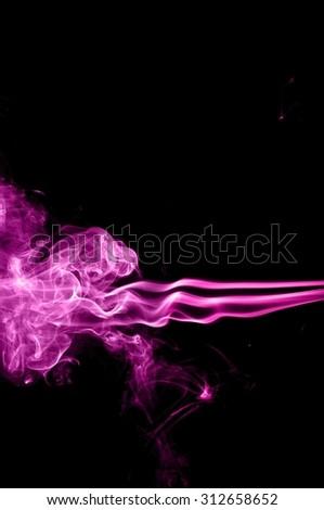 Movement of smoke, Abstract color smoke on black background, purple smoke background,purple ink background,Violet smoke, beautiful color smoke