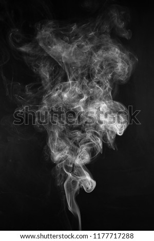 movement of smoke on black background, smoke background, abstract smoke on black background