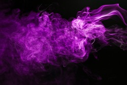 Movement of smoke purple background.