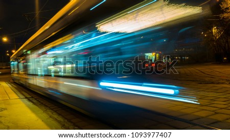 movement of trams on the tram circle #1093977407