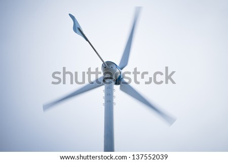 Movement wind turbine with copy-space