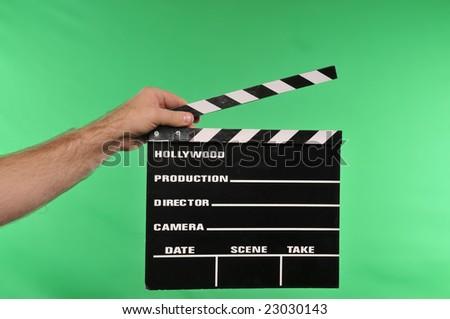 movie clapper on chroma #23030143