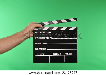 movie clapper on chroma green #23128747