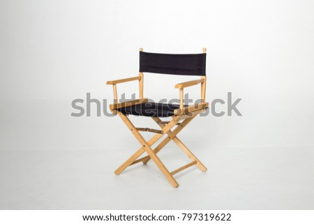 Movie Director Chair Isolated. Fold able chair. #797319622