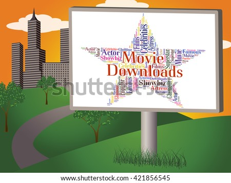 Movie Downloads Representing Hollywood Movies And Shows