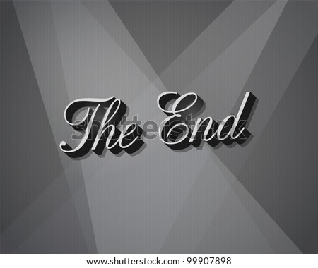 Movie ending screen - JPG Version - stock photo