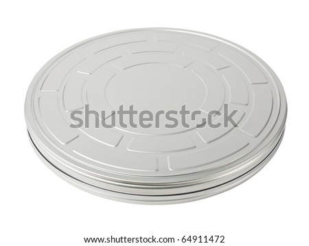Movie film (35 mm) canister isolated on white background