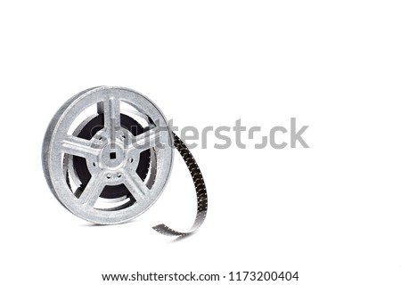 movie film reel on white background #1173200404