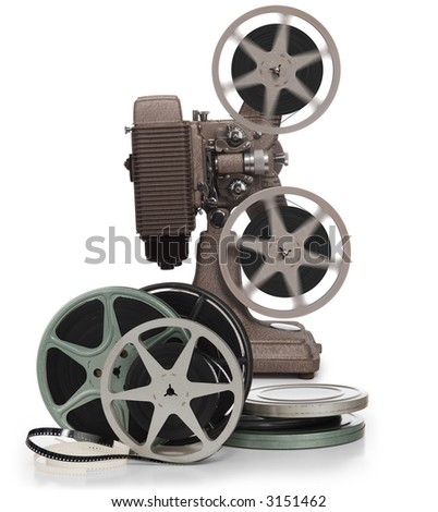 reels of film. stock photo : Movie film reels