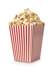 Movie Popcorn isolated on white with clipping path