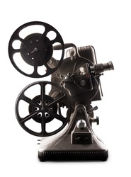 Movie projector isolated on white