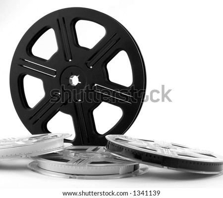 Movie reels with movies isolated