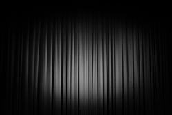 Movie Theater Curtains, black and white spotlight