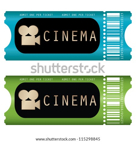 movie ticket - stock photo
