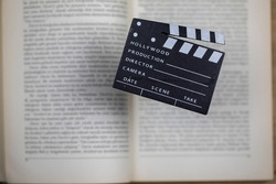 Movies adapted from books, cinema concept