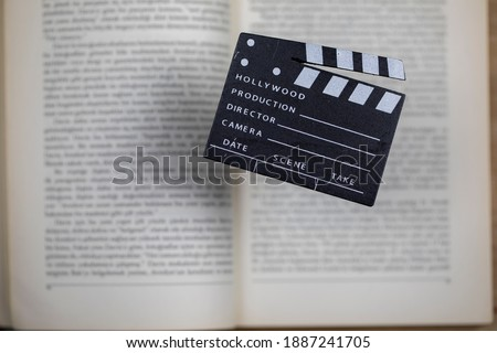 Movies adapted from books, cinema concept Сток-фото ©