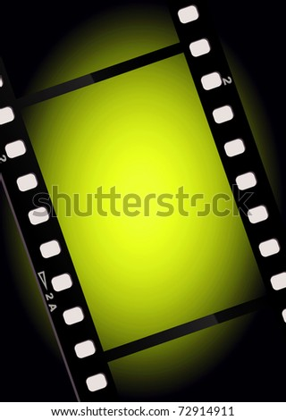 movies film green light background  with space for text or image